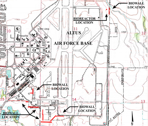 Altus Air Force Base Biowall Configuration