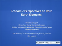 Dr. Rod Eggert's 2012 Rare Earth Elements Worshop Presentation