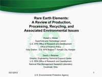 Robert Weber's 2012 Rare Earth Elements Worshop Presentation